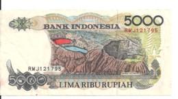 INDONESIE 5000 RUPIAH 1992-97 VF P 130 F - Indonesia