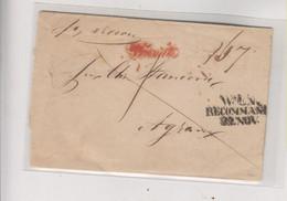 AUSTRIA 1849 WIEN RECOMMANDIERT Nice Cover To ZAGREB CROATIA - ...-1850 Prephilately
