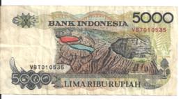 INDONESIE 5000 RUPIAH 1992 VF P 130 A - Indonesia