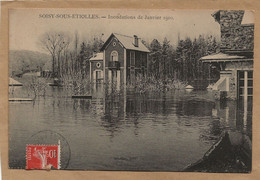 91  SOISY  SOUS  ETIOLLES    INONDATIONS  DE JANVIER 1910 - Sonstige Gemeinden