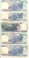 INDONESIE 1000 RUPIAH 1992-99 VF P 129  ( 5 Billets ) - Indonesia