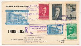 PANAMA - 1959. INSTITUTO NACIONAL 5 EX. FIRST DAY AGO 5 1959.  Premier Jour Recommandé - Panama