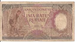 INDONESIE 500 RUPIAH 1958 VG++ P 60 - Indonesia