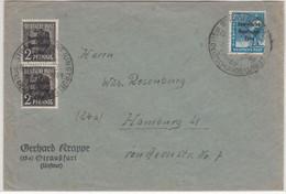 SBZ - Straußfurt 1848 Mahnt 1948, Handwerbestpl. A. Brief N. Hamburg 1948 - Sovjetzone