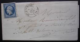 Sainte-Hermine Vendée 1855 Pc 3110 Sur N°14, Origine Champgillon, Pour Vairé - 1849-1876: Periodo Classico