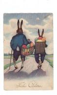 OSTERN - Hasenpaar Mit Eierkörben - Easter