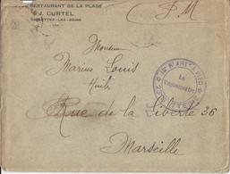 Lettre N° 451 - Hôtel Restaurant De La Plage - Sablettes Les Bains - 1921-1960: Periodo Moderno
