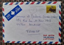 Québec Pour Solaize Rhône ( Le 10 10 1988) Canada - Cartas
