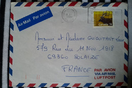 Canada Pour Solaize Rhône ( Le 08 02 1988) Canada - Cartas