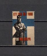 Deutsches Reich Finnisches Freiwilligen-Bataillon Der Waffen-SS Poster Cinderella Propaganda Vignette Postfrisch - Erinofilia