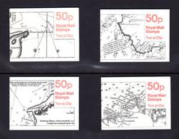 GRANDE-BRETAGNE 1995 - SG FB72/FB75 - Carnets Yvert C1710-5 / C1710A-1 - NEUF** MNH - 50p. Booklets - Sea Charts Series - Markenheftchen