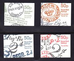 GRANDE-BRETAGNE 1993 - SG FB64/FB67 - Carnets Yvert C606e-3 / C1710-1- NEUF** MNH - 50p. Booklets -Postal History Series - Markenheftchen
