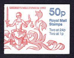 GRANDE-BRETAGNE 1992 - SG FB63 - Carnet Yvert C606e-2 - NEUF** MNH - 50p. Booklets - Appointment Of Sheriffs - Markenheftchen