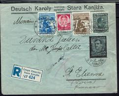 Yougoslavie - 1936 - Affranchissement Multicolore, Varié Sur Enveloppe Recommandée De Stara Kanjiza Pour La France - - Covers & Documents