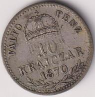 HUNGARY , 10 KRAJCZAR 1870 KB - Hungary