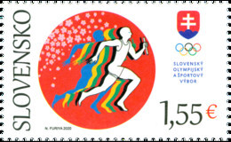 Slovakia - 2021 - XXXII Summer Olympic Games In Tokyo - Slovak Olympic Team - Mint Stamp - Unused Stamps