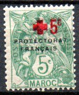 Maroc: Yvert N° 59*; Croix Rouge - Nuovi