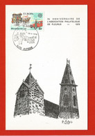Fleurus : 2 Cartes Timbres Europa ,Xè Anniversaire Assoc.philatélique En 1979 +100è Sortie Cavalcade De Pâques - Landelijks Post