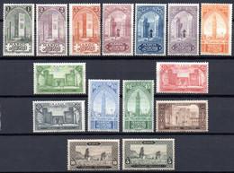 Maroc: Yvert N° 63/79*; 15 Valeurs; Charnières Fortes - Nuovi