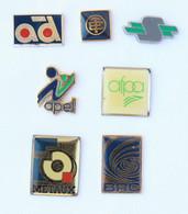Lot De 7 Pin's LOGO ADMINISTRATION Et ENTREPRISE - Afpa - Apel - AD - Etc ... - K178 - Lots