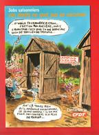 """C.F.D.T. . """" JOBS SAISONNIERS, VOS DROITS NE SONT PAS EN VACANCES """" . DESSIN DE VUILLEMIN . CART'COM - Réf. N°30415 - - Labor Unions"""