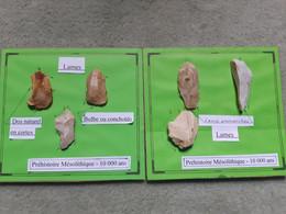 Lot De 6 Lames Mésolithiques, Cravant (Loiret) - Archeologia