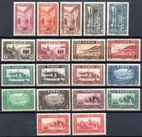 Maroc: Yvert N° 128/149**; MNH Les 142 Et 148*; Le 149(*); 19 Valeurs - Nuovi