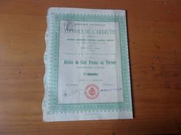 ALCOOLS DE L ARDECHE  (100 Francs) 1908 - Non Classificati
