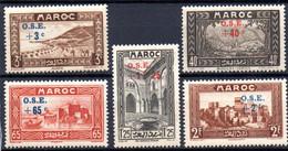 Maroc: Yvert N° 153/160**; MNH; 5 Valeurs - Nuovi