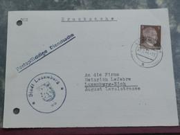 Entier Postaux, WW2. Oblitéré Luxembourg 1944 Envoyé à Eich - 1940-1944 Duitse Bezetting
