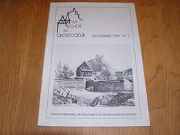 LES ECHOS DE CREVECOEUR N° 3 Régionalisme Bouvignes Dinant Château Moyen Age Meuse Bouvignoise Au 19 è S Toponymie Lieu - Bélgica