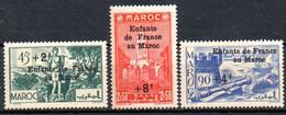 Maroc: Yvert N° 200-202-203**; MNH; 3 Valeurs - Nuovi