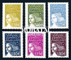 2003 France Yv 3570/3575 Marianne (Luquet) Philatélie **SC TTB Très Beau, Neuf Sans Charnière  (Yvert&Tellier) - Ungebraucht