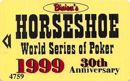 Binion's Horseshoe Casino - Las Vegas, NV - 1999 WSOP Slot Card ...[RSC]... - Tarjetas De Casino