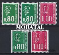 1976 France Yv 1891/1895 Marianne Série Générale *Ch TB Beau, Neuf Charnière  (Yvert&Tellier) - Unused Stamps