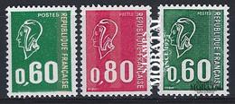1974 France Yv 1814/1816 Marianne Série Générale **SC TTB Très Beau, Neuf Sans Charnière  (Yvert&Tellier) - Unused Stamps