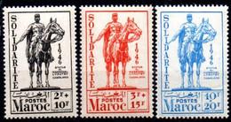 Maroc: Yvert N° 241/243**; MNH - Nuovi