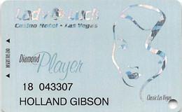 Lady Luck Casino Las Vegas NV - 11th Issue Diamond Player Slot Card   ...[RSC]... - Tarjetas De Casino