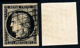 1849 France Yv 3 Type Ceres 20 C.  (o) Oblitere TB Beau  (Yvert&Tellier) - 1849-1850 Ceres
