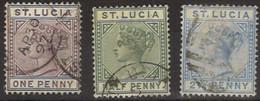 GRAN BRETAGNA 1883 - Isola Di Santa Lucia  (920) - Ste Lucie (...-1978)