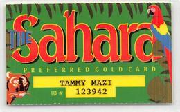 Sahara Casino - Las Vegas NV -  Preferred Gold Card TC2 Laminated Paper Table / Slot Card  ...[RSC]... - Tarjetas De Casino