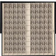 Chaines Brîsées 10c Feuille De 100 Timbres ** Coin Daté  -6.2.45 Presse 3 Feuille 23648  N° Yv 670 , D 680 - Unused Stamps