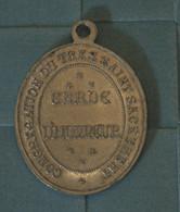Grosse Medaille - Aluminium,Garde D'Honneur , Congrégation Du Très Saint Sacrement,  Medal, Medaglia - Religion & Esotericism