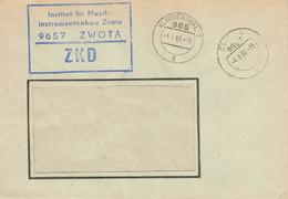 DDR Brief ZKD Institut Für Musikinstrumentenbau Zwota 1966 - Official