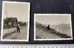 Gunten Am Thunersee/BE/ 2 Photos 1942 - Places