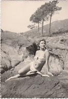 11636.  Fotografia  Vintage Donna Femme Sexy Erotic In Costume Mare Aa '50 Italia - 10x7 - Persone Anonimi