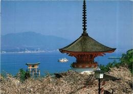 CPM AK HIROSHIMA Pagoda Great Torii Itsukushima Shrine Miyajima JAPAN (677531) - Hiroshima
