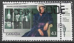 Canada 1994. Scott #1509 (U) Jeanne Sauvé (1922-1993), Govervor General ** Complete Issue - Usados