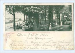 """Y14236/ Hamburg Altona  """"Neu-Rainville"""" AK 1902 - Altona"""