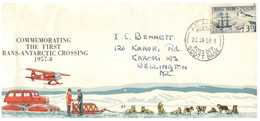 (NN 30) Ross Dependency Cover (New Zealand) - Commemorating The First Trans-Antarctic Crossing 1957-58 - Covers & Documents